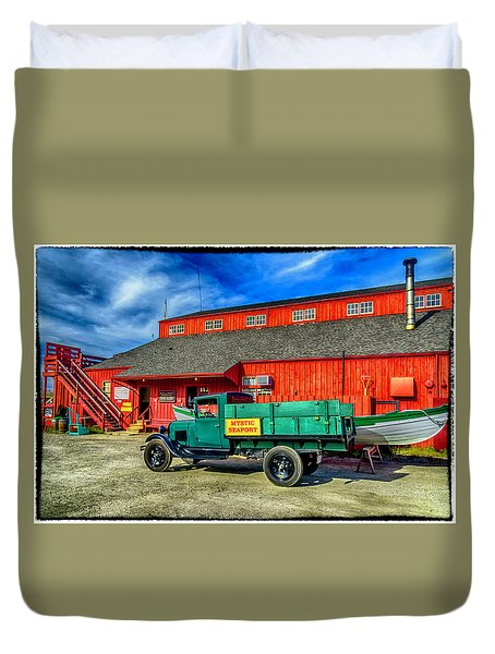 Shipyard Work Truck Duvet Cover