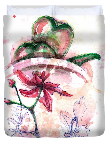 Shiraz Orchid II Duvet Cover by Ashley Kujan