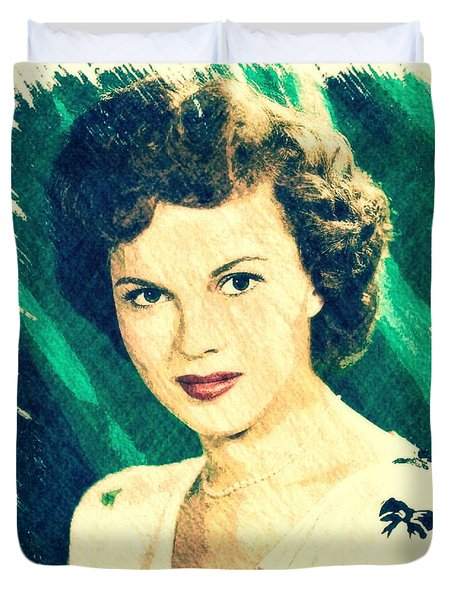 Shirley Temple By John Springfield Duvet Cover by John Springfield