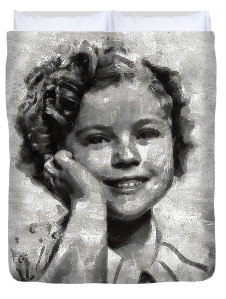 Shirley Temple By Mary Bassett Duvet Cover by Mary Bassett