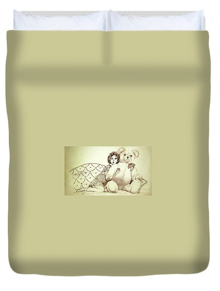 Shirley Temple Duvet Cover by Linda Simon