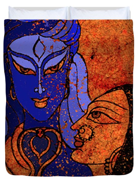 Shiva And Shakti Duvet Cover by Sonali Chaudhari
