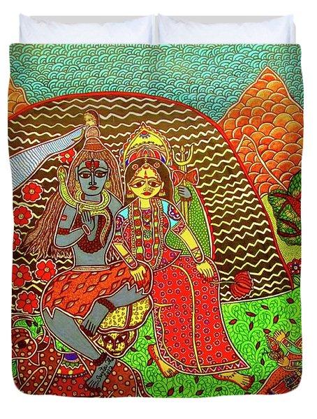 Shiva-parivaar Duvet Cover