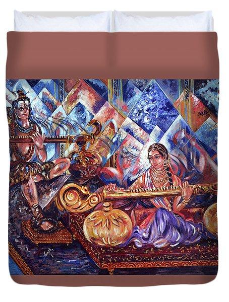 Shiva Parvati Duvet Cover