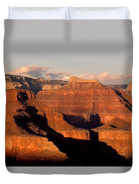 Shiva Temple  At Sunset Grand Canyon National Park Duvet Cover