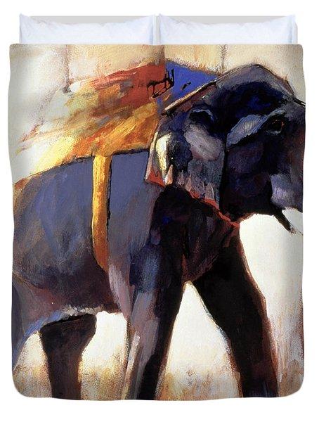 Shivaji  Khana Duvet Cover by Mark Adlington