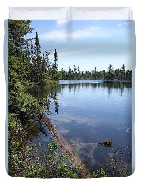 Duvet Cover featuring the photograph Shoe Lake #2 by Sandra Updyke
