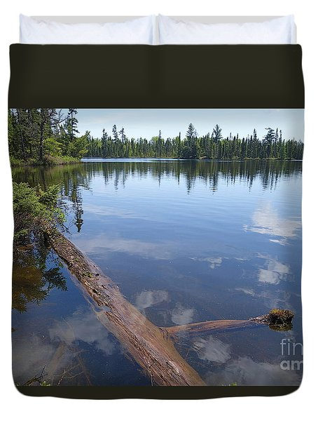 Duvet Cover featuring the photograph Shoe Lake by Sandra Updyke
