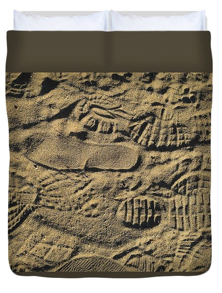 Shoe Prints Duvet Cover