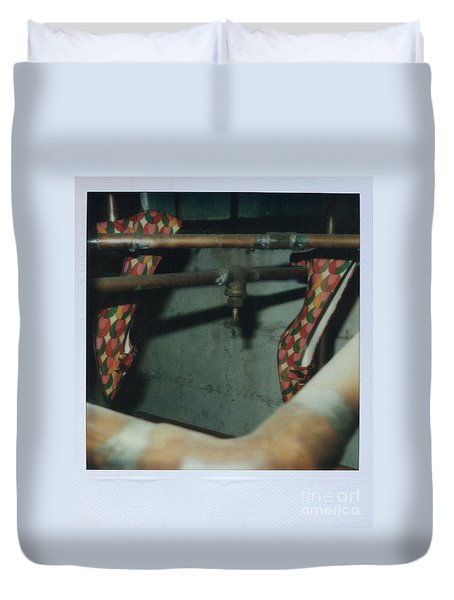Duvet Cover featuring the photograph Shoe Study 1 by Steven Macanka