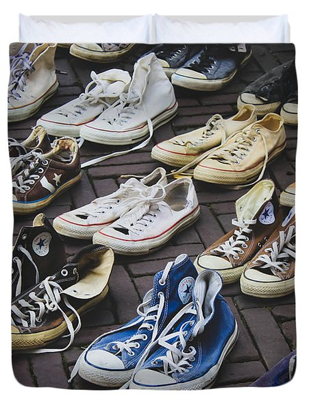 Shoes At A Flea Market Duvet Cover