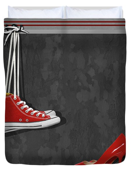 Shoes For Every Occasion Duvet Cover by Monika Juengling
