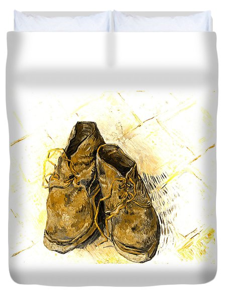 Shoes Duvet Cover by John Stephens