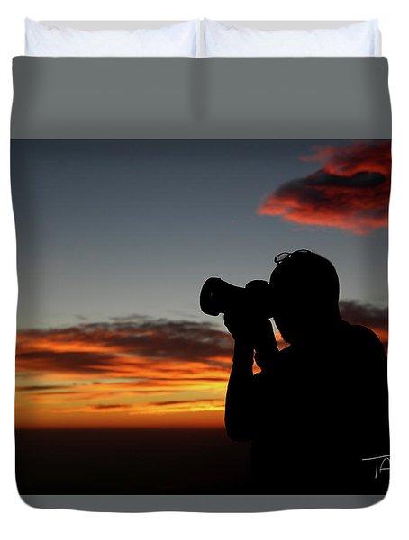 Shoot The Burning Sky Duvet Cover