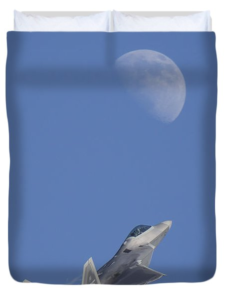 Duvet Cover featuring the photograph Shoot The Moon by Adam Romanowicz