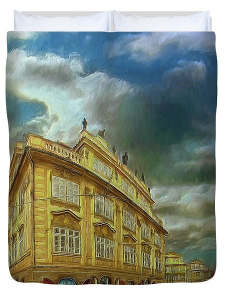 Shooting Round The Corner - Prague Duvet Cover