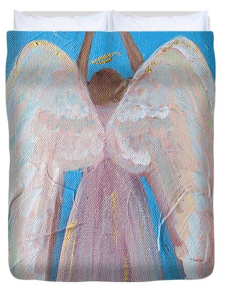 Shooting Star Angel Duvet Cover