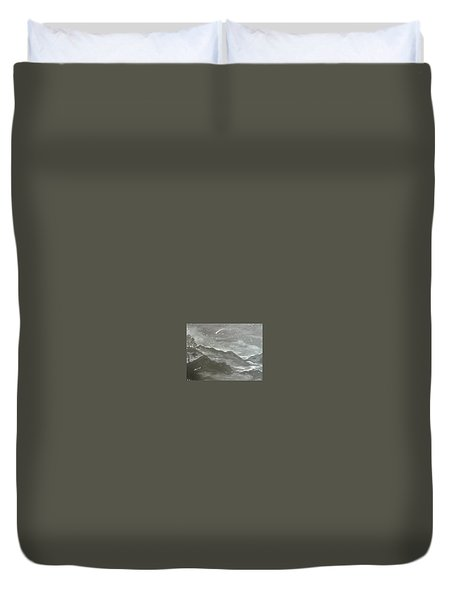 Shooting Star  Duvet Cover by Irina Astley