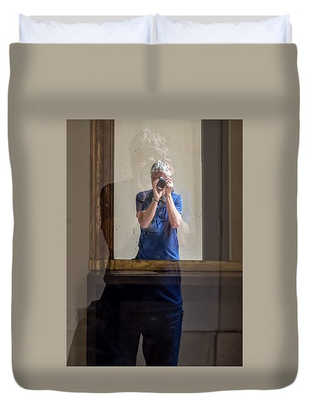 Shooting The Photographer Duvet Cover