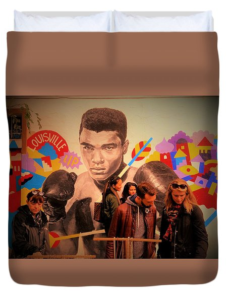 Shopping In Brooklyn With Mohamed Ali Duvet Cover