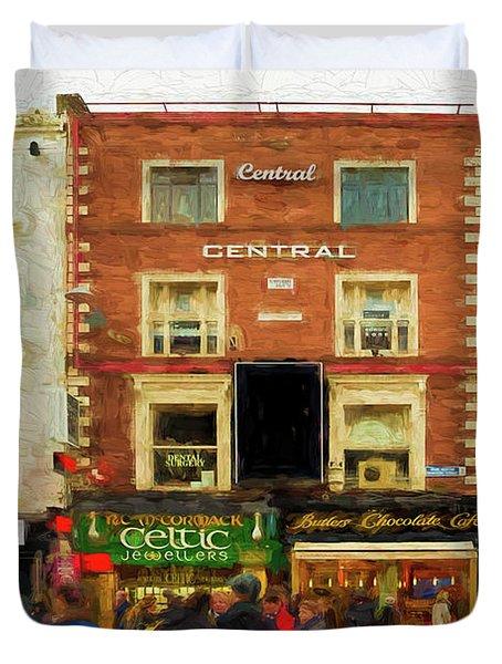 shopping on Grafton Street in Dublin Duvet Cover
