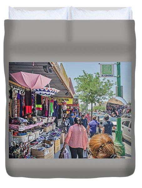 Shopping On South El Paso Street Duvet Cover