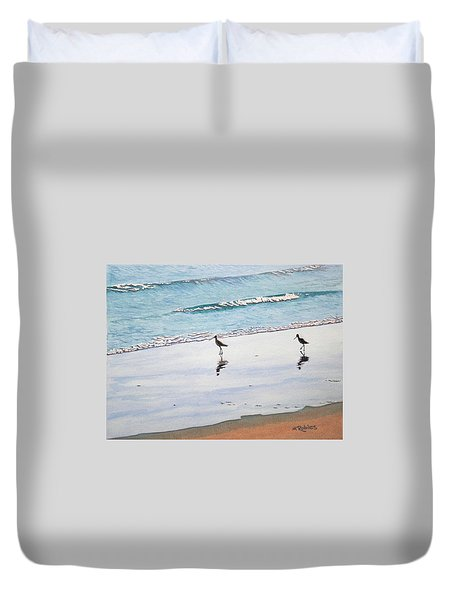 Shore Birds Duvet Cover