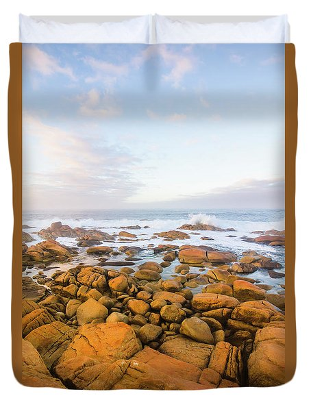 Duvet Cover featuring the photograph Shore Calm Morning by Jorgo Photography - Wall Art Gallery