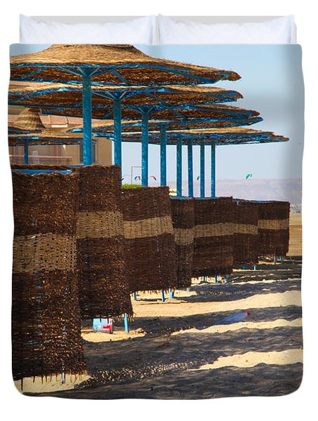 Duvet Cover featuring the photograph Shore Line by Jez C Self
