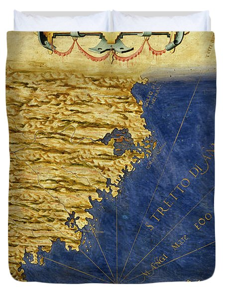 Shore Of China And Japan Duvet Cover
