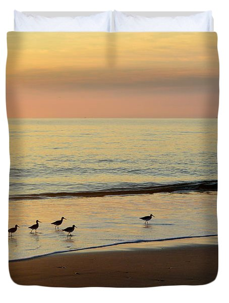 Shorebirds 9/4/17 Duvet Cover