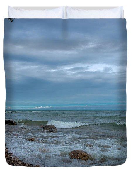 Shoreline Clouds Duvet Cover