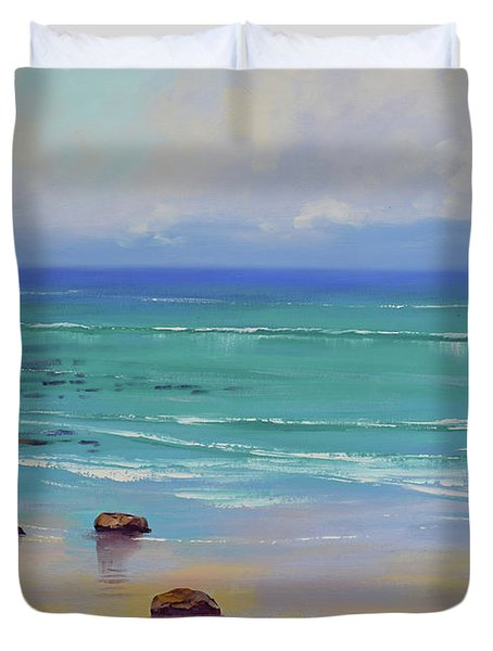 Shoreline Colors Duvet Cover