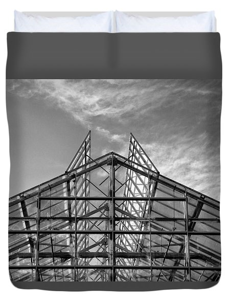 Shoreline Greenhouse Duvet Cover