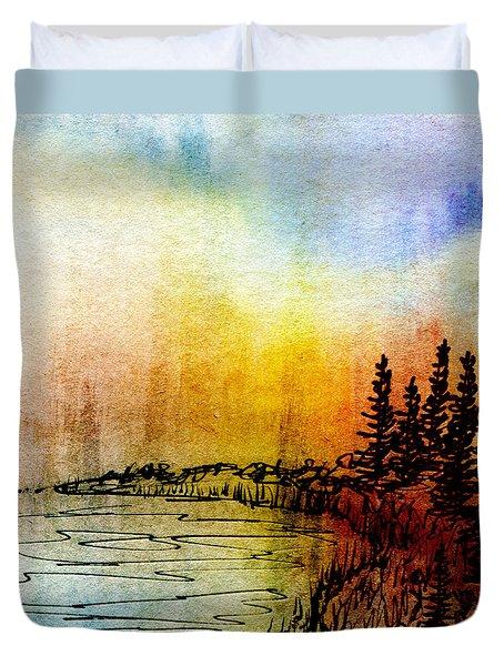 Shoreline Duvet Cover by R Kyllo