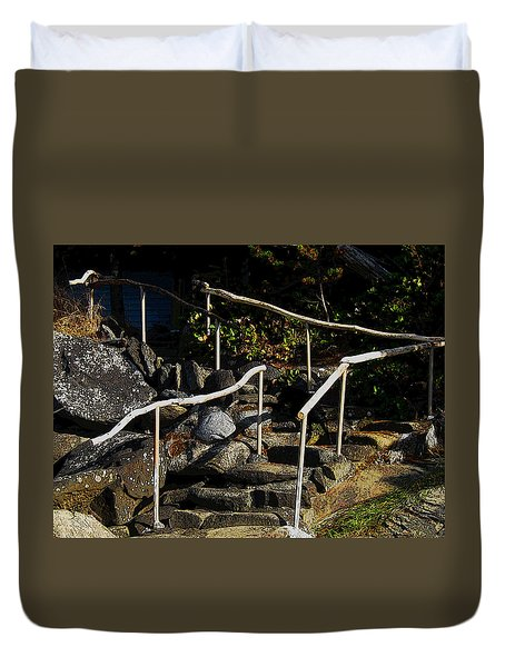 Shoreline Steps  Duvet Cover by Anne Havard