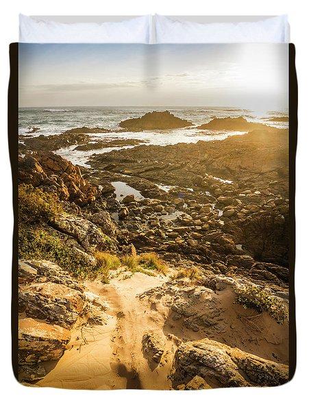 Shoreline Sunshine Duvet Cover