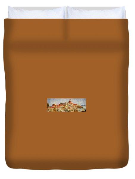 Shoreline Village Duvet Cover by Joseph Hollingsworth