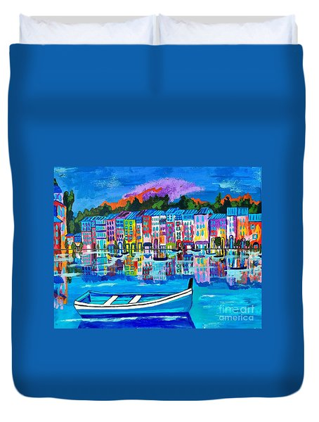 Shores Of Italy Duvet Cover