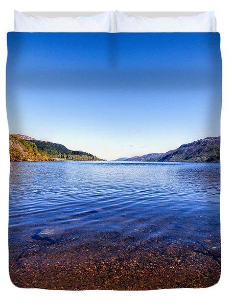 Shores Of Loch Ness Duvet Cover