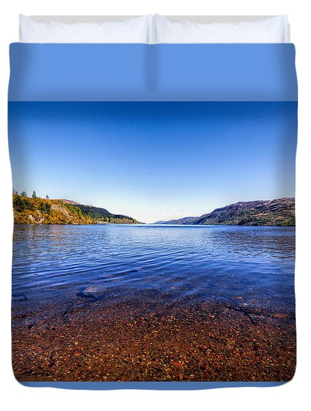 Duvet Cover featuring the photograph Shores Of Loch Ness by Lynn Bolt