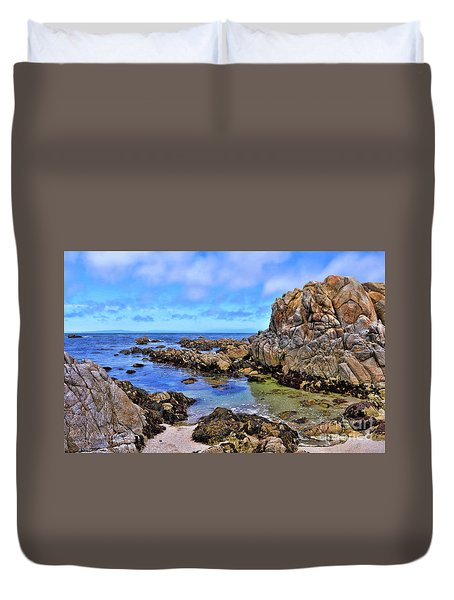 Shores Of Pacific Grove  Duvet Cover by Gina Savage