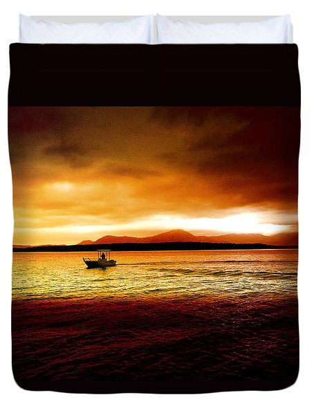 Shores Of The Soul Duvet Cover