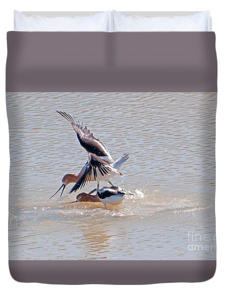 Short Conflict Duvet Cover by Lula Adams