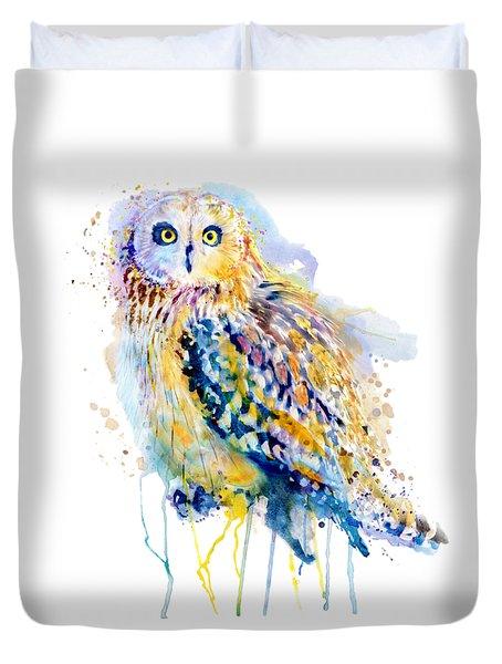 Short Eared Owl  Duvet Cover