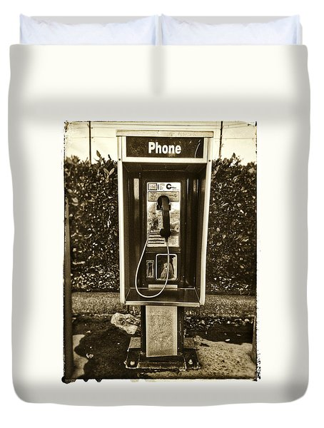 Short Stack Pay Phone Duvet Cover