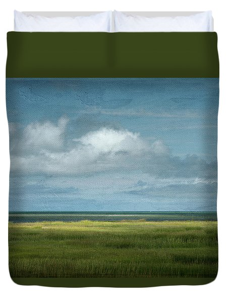 Short Wharf Creek 5 Duvet Cover