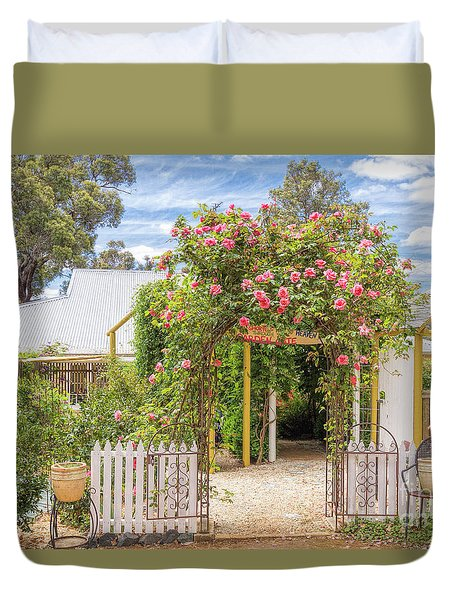 Shortest Way To Heaven #2 Duvet Cover by Elaine Teague