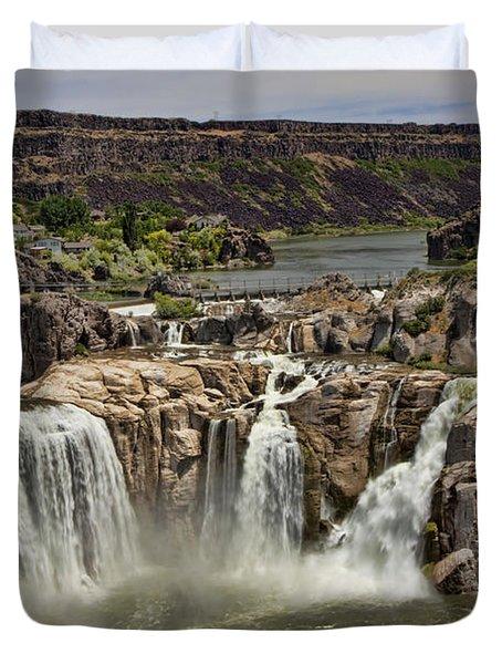 Shoshone Falls Duvet Cover
