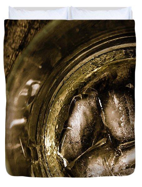 Shot Of Whisky On The Rocks Duvet Cover